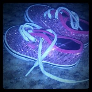 VANS Authentic Glitter Stars  PinkToddler shoes